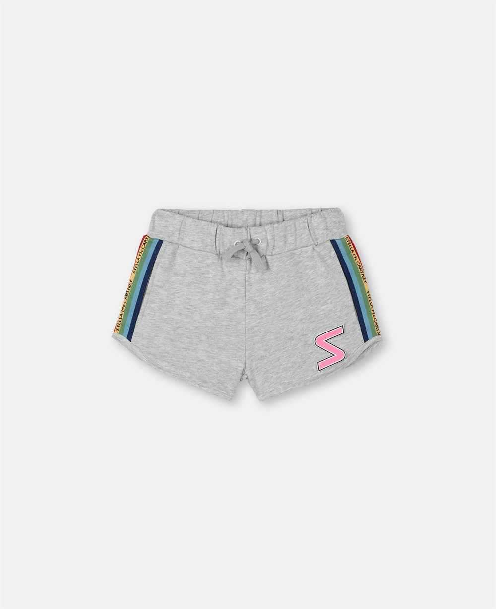 Sport Shorts Rainbow Logo Tape - Stella McCartney