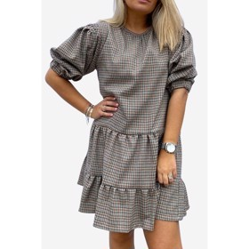 Tanny Dress Cotton Small Checked - Noella