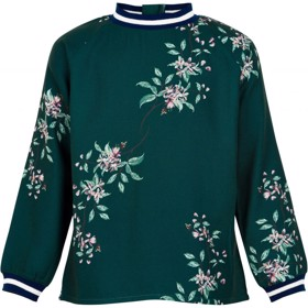 Isla let strikbluse med blomster- The New
