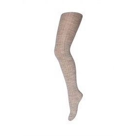 Strømpebuks tights wool rib, light brown - MP