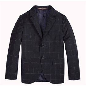 Virgin Wool Check Blazer - Tommy Hilfiger