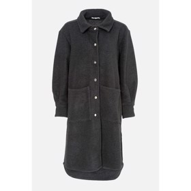 Viksa Jacket long Wool Black - Noella