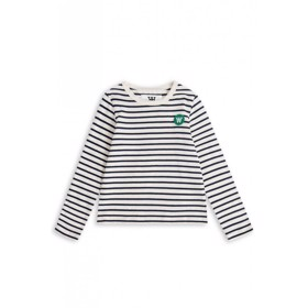 Kim kids long sleeve off-white/navy - Wood Wood