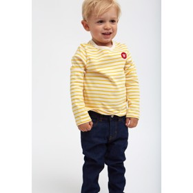 Kim kids long sleeve Off-white/yellow - Wood Wood
